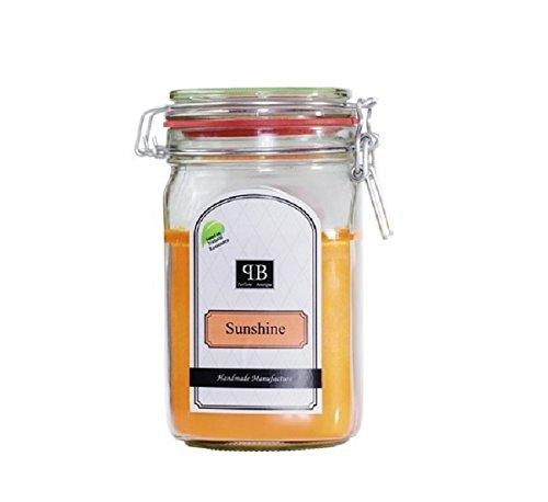 Parfüme Boutique 1112443su Vintage Vintage Verre – XL – Sunshine Bougie parfumée dans Verre, Orange, 13 x 13 x 18 cm