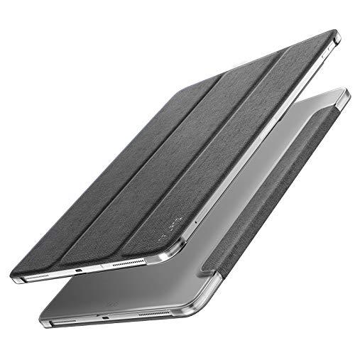 Infiland iPad Pro 12.9 2018 Hülle Case, Superleicht Transluzent Smart Schutzhülle Case mit Auto Schlaf/Wach Funktion für iPad Pro 12.9 2018(Unterstützt Das Aufladen des Apple Pencil),Grau