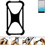 K-S-Trade Bumper Ulefone F1 Silikon Schutz Hülle Handyhülle Silikoncase Softcase Cover Case Stoßschutz, schwarz (1x)
