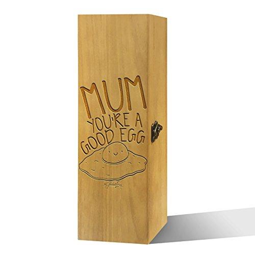 Twisted Envy Mum Sie ein guter Ei Luxus lackierte Holz Wein Box