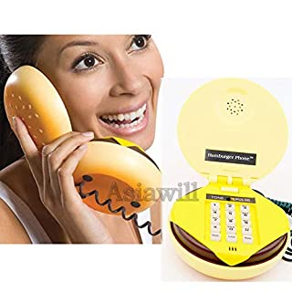 Asiawill Novelty Hamburger Cheeseburger Burger Phone Telephone JUNO Home Desktop Corded