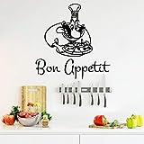 Moderne Bon Appetit Mur Autocollant Pvc Amovible Chambre Décor Chambre Stickers...