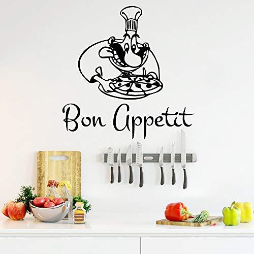 Moderne Bon Appetit Wandaufkleber PVC Abnehmbare Kinderzimmer Dekor Wandaufkleber Wasserdichte Tapete Lila 57 * 57 cm