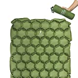 Jakob Jakobson Ultraleichte Schlafmatte Modell 2018 - aufblasbare Isomatte für Camping, Wandern, Outdoor, Reisen, Strand - inkl. Reperaturaufkleber (Grün)