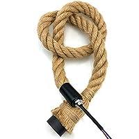 FangFang El cáñamo de la Vendimia Cuerda Pendiente de la luz E27 (Body Color : E27 Double Head, Size : 2.5M)