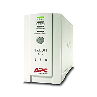 APC Back-UPS CS - BK650EI - Uninterruptible Power Supply 650VA (4 Outlets IEC, Surge protected)
