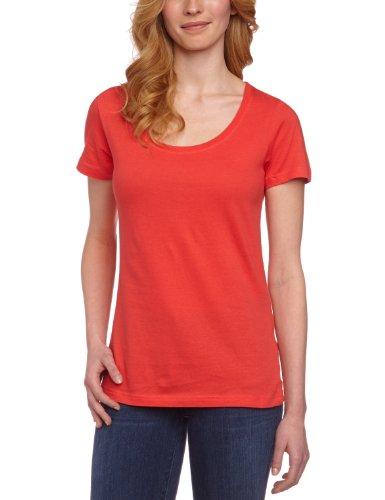 Anvil 391 - T-shirt - Uni - Col Ras Du Cou - Manches Courtes - Femme Rouge (Cor-Coral)