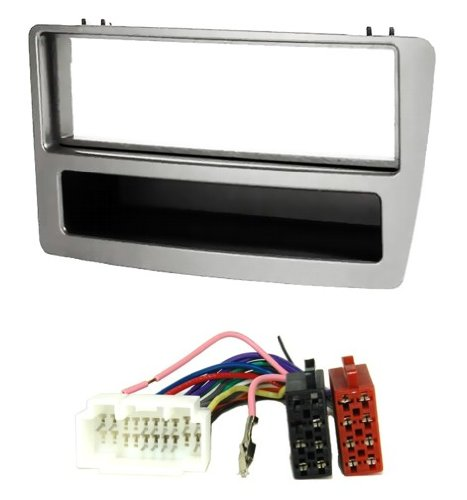 6202-1303-silver-car-radio-panel-with-shelf-and-iso-adaptor-cable-for-honda-civic-7th-generation-typ