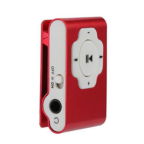 SamMoSon Mini lettore MP3 portatile USB Supporto Micro SD TF Card 32GB Music Media musicale | Card lettore mp3 Argento, rosso, viola, arancione, rosa caldo, verde, blu, nero rosso