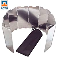 Lixada plegable al aire libre Camping cocina cocina estufa de gas aleación de aluminio viento pantallas parabrisas (10 platos)