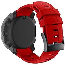 igemy nueva moda deportes pulsera de silicona banda Correa para Suunto Ambit3vertical, color rojo