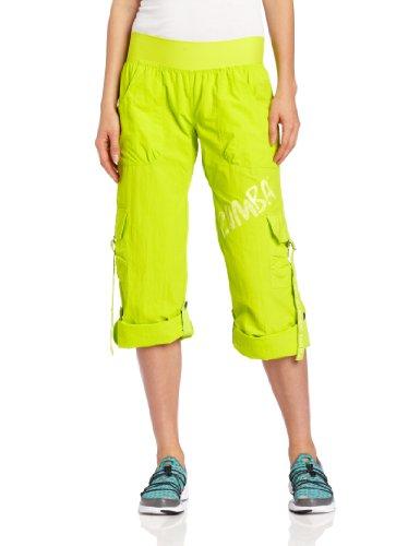 Zumba Fitness LLC - Pantaloni Feelin' It, da Donna, Verde (Zumba Green), M
