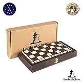 Amazinggirl Ajedrez para niños de Madera - Juegos de ajedrez Grande Tablero de (35 x 35 cm)