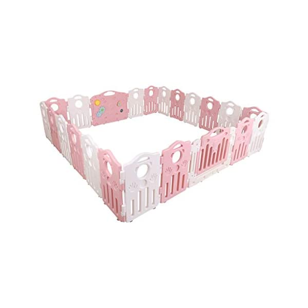 Baby Playpen HUYP Baby Fence Play Area Foldable Baby Fence Crawling Toddler Home Outdoor (color : Pink, Size : 20 small pieces) Baby Playpen  1