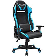 Racing Chaise avec Assise Large, Chaise Gamer avec Appui-Tête et Soutien Lombaire, Chaise Gaming, Siège Gaming Dossier Haut Inclinable