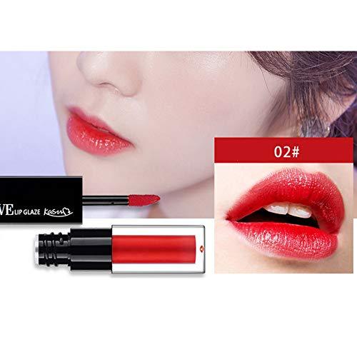 friendGG New Water Lip Gloss Lippenstift ist nicht einfach zu entfärben und hält den Lippenstift