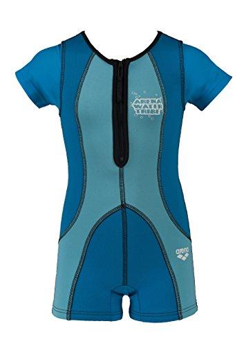 arena Kinder Unisex Neoprenanzug AWT (Wärmend, UV-Schutz UPF 50+, Reißverschluss Vorderseite), blau (Martinica-Blue), 9-10Y