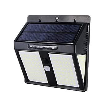 146 LED Luce Solare faretto lampada parete sensore movimento PIR per esterni