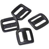 Duraflex Leiterschnalle Regularot Set in 20, 25 und 50 mm, Schwarz, Stegschnalle, Rucksackschnalle, Gurtschnalle, Seitenschnallen, Klemmschnalle