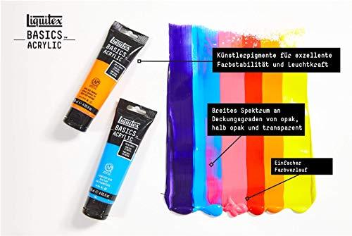 Liquitex Basics Acrylic Paint, 4-oz Tube, Pyrrole Red