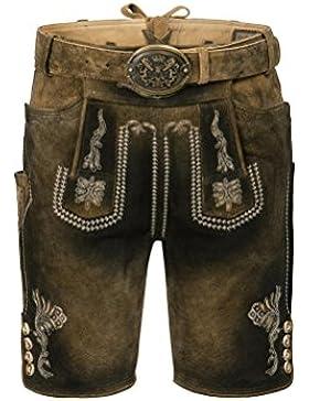 Michaelax-Fashion-Trade Stockerpoint - Herren Trachten Lederhose mit Gürtel, in Uroid gespeckt, Bastian