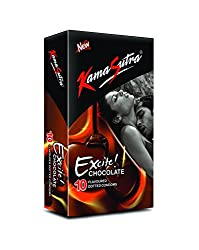 Kama Sutra Excite Series Chocolate Flavoured Condoms - 10S Packets