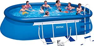 Intex Aufstellpool Oval Frame Pool Set, TÜV/GS, Blau, 549 x 305 x 107 cm