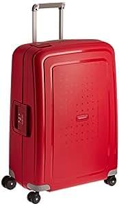 Samsonite S'Cure Polypropylene 81 cms Crimson Red Hard sided Suitcase (10U (0) 10 704)