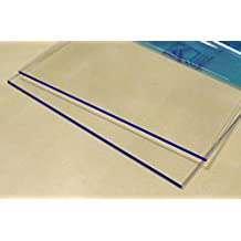 Hoja de plástico acrílico transparente 3mm - Tamaño A1 DINA1 (594 x 841 mm)