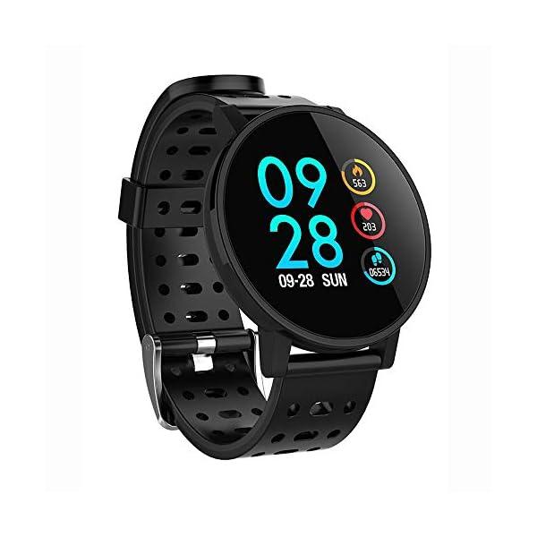 TOOGOO T3 Smart Watch Ip67 Impermeable Smartwatch Presión Arterial Monitor de Ritmo Cardíaco Rastreador de Ejercicios Hombres Wearable Pulsera Inteligente (Negro) 1