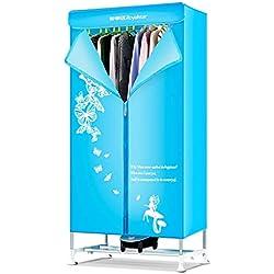 Electric dryer SéChoir MéNager SèChe-Linge, SèChe-Linge à Penderie, Petit SèChe-Linge à éConomie D'éNergie, 900w-Bleu