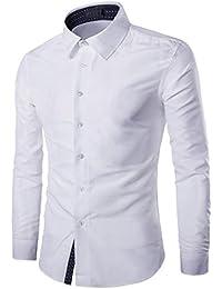 ITISME TOPS Mens Casual Langarmhemd Business Slim Fit Hemdbluse Top