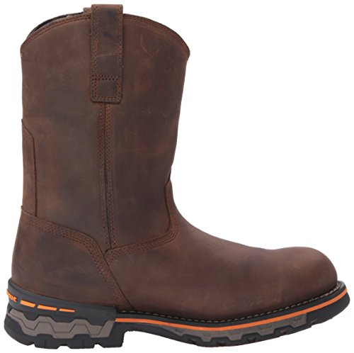 Timberland PRO Men s Ag Boss Soft Toe Waterproof Pull-on Industrial and Construction Shoe  Brown Distressed Leather  12 M US