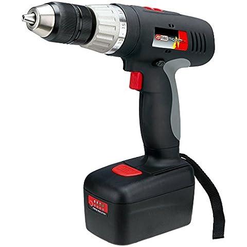 KS Tools 515.3538 - Trapano avvitatore/perforatore a batteria 3.0Ah, 18V,