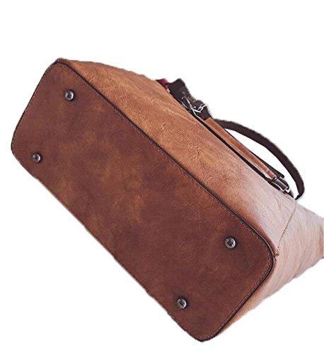 Fabelhaft Koreanische Version Der Einfachen Großen Kapazitäts-Kurier-Tasche Brown