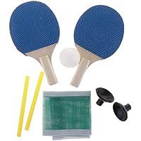F Fityle 1 Par Mini Mesa Raqueta y Bola para Juego de Tenis de Mesa en Casa, Extra Ligera