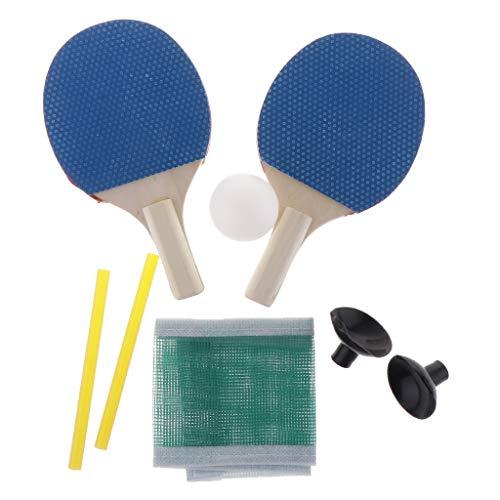 1 Par Mini Raqueta Ping-Pong Doble Cara + 1 Pelota