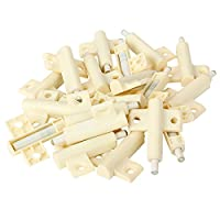 WEONE Plastic White Kitchen Cabinet Door Soft Closer Damper Buffers (Pack of 20)