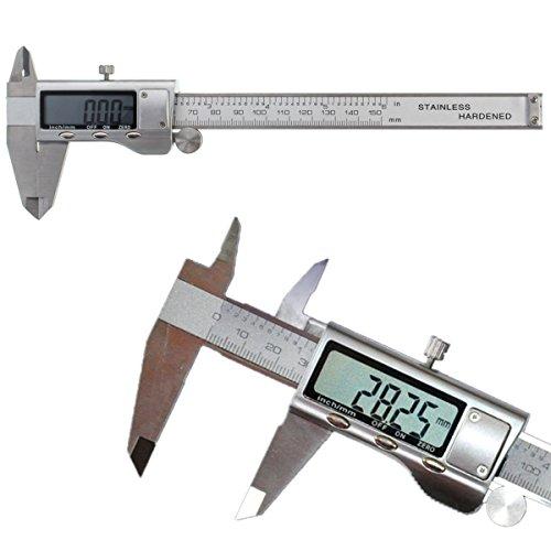 GOCHANGE 150mm / 6-Zoll Digitaler Messschieber für Abständen und Durchmesser, Edelstahl Elektronische Digital Noniusschieber Mikrometer