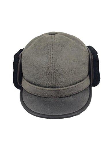 zavelio-womens-shearling-sheepskin-elmer-fudd-pilot-visor-hat-xx-large-gray
