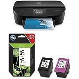 HP ENVY 5640 Pack - Impresora multifunción + Pack de ahorro de 2 cartuchos de tinta original, negro y tricolor (cian, magenta y amarillo) (62)