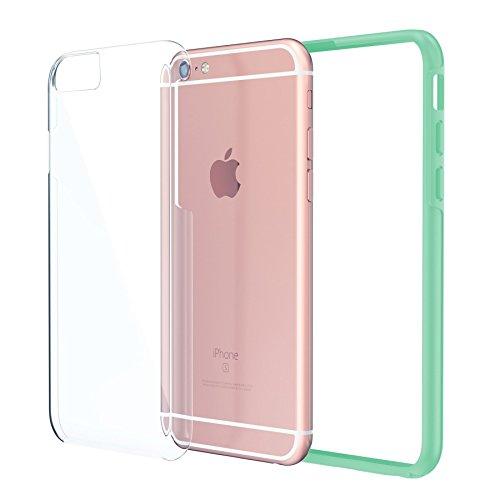 iPhone 66S 4,7Case, coque True Color® Cristal Clear Transparent Hybrid capot soutenir Stark + Soft Fine Long de chocs de protection TPU stoßabdeckungs [Ultra Clear Collection] Minze