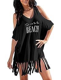 Vestido de Verano de Mujer, Dragon868 Las Mujeres Borla Letras de Traje de baño Bikini