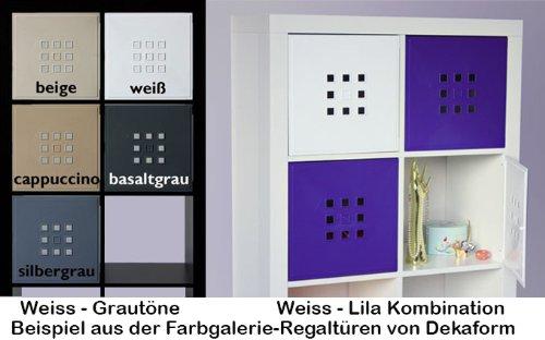 Scaffali A Cubo Ikea.Dekaform Sportello Stiloso Per Scaffali A Cubo Inserto Ikea Expedit Kallax Con Nornas Colore Bianco