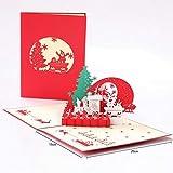 GHJFKL 5PCS Weihnachtskarten-Luxuriöse Weihnachtskarten-Weihnachtsbaum, Schneemann