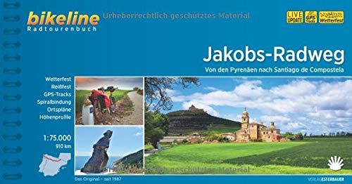 Jakobs - Radweg von den Pyrenaen nach Santiago de Compostela 2017 por Bikeline