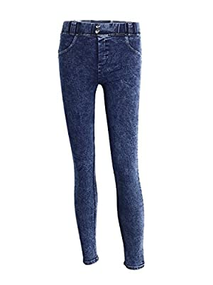 Simplee Women's Sexy Butt Lift Mid Waist Denim Stretchy Skinny Jeans Jegging Trousers