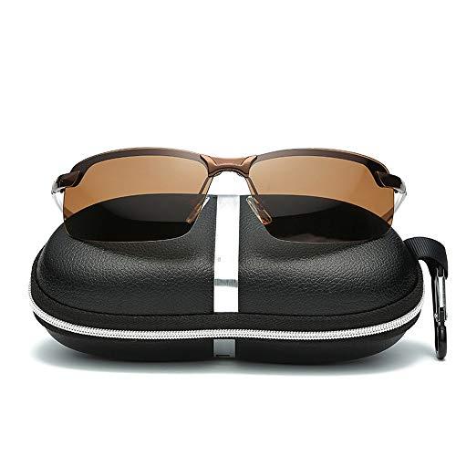 Duhongmei123 Mode Brillen Set Unisex Angeln Laufen Golf Fahren Unisex Polarized Lens Wellington Sonnenbrille Occhiali (Color : Braun, Size : Kostenlos)