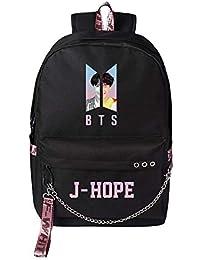 e9fd7dda4ad64 Unisex BTS Backpack Mochila Bangtan Bolsas de Escuela Impresas para niños  Niñas Korean Combination BTS Camping