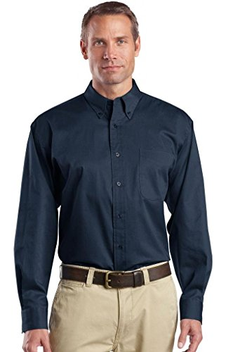 CornerStone® - Long Sleeve SuperProTM Twill Shirt. SP17 Navy S -